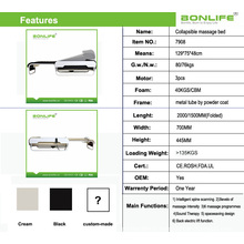 Vis en spirale + Rouleaux de Jade automatique Lift Up et Down Lit de massage thermique réglable avec Lifter