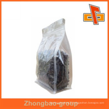 2015 hot sale laminated resealable flat bottom clear plastic bags