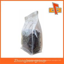 2015 venda quente laminado resealable plana fundo transparente sacos plásticos