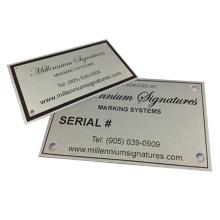 Custom Industrial Equipment Metal Nameplate Aluminum Stainless Steel Matt Printed Engraved With Brand Logo