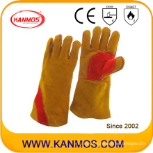 Brown Cowhide Split Leather Industrial Hand Safety Welding Work Gloves (11117)