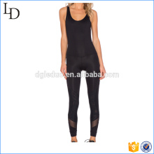 2017 Novo design com malha slim fit mulheres jumpsuit yoga saport suit