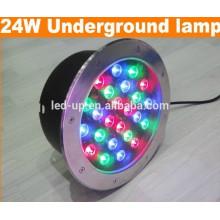 Lumière souterraine LED 24w RGB avec lumens élevés
