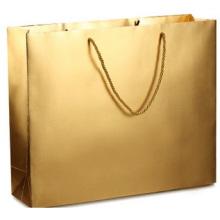 Goldene Kleidertasche, gesunde Geschenktüte kundenspezifisches Logo