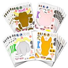 Benutzerdefinierte gedruckte Diy kreative abnehmbare Aufkleber Blätter für Kinder