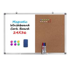 Kombination Dry Erase White Board Bulletin Cork Board