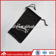 Customized drawstring sunglasses microfiber bag,custom silk drawstring pouch