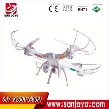 Cámara 480P UFO 2.4G Gyro Quadcopter China Flying Toys RC Drone con cámara PK K200 K300c SJY-K200C