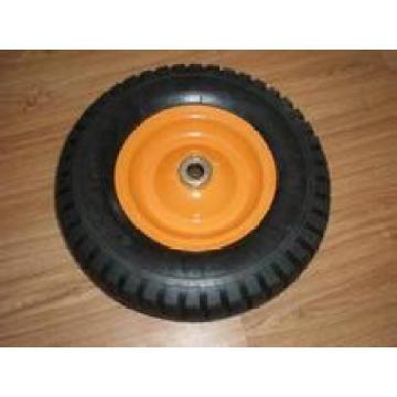 Rueda sólida de la espuma de la PU, neumático de la carretilla 3.00-8 13x3