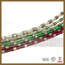 Diamond Wire Saw for Quarry Profiling Block Cutting Rubber Coat Spring Fixing Plastic