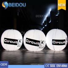 Globo gigante de la venta al por mayor de los globos inflables del trípode LED que cuelga el globo