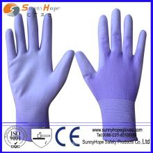 SUNNYHOPE China Factory 13g nahtlose PU beschichtete Handschuhe