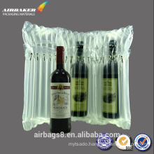 High quality best selling promotional inflatable air column mailing bag for red wine