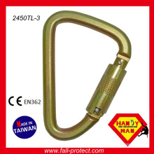Industrial Large Twist Lock Captive Pin Triangle Steel ANSI Carabiner Wholesale