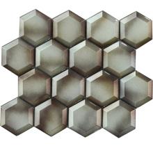73X73mm Bevel Edge Cold Spray Mosaic Hexagon Tile Bathroom