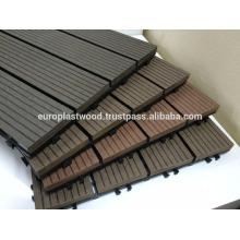 Interlock waterproof wpc decking tiles