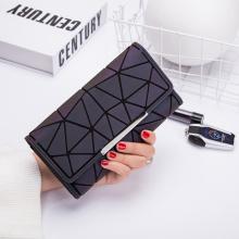 Luminous wallet female ladies three fold long wallets
