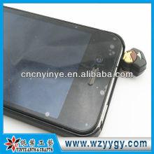 lujo de silicona polvo plug para publicidad móvil teléfono móvil