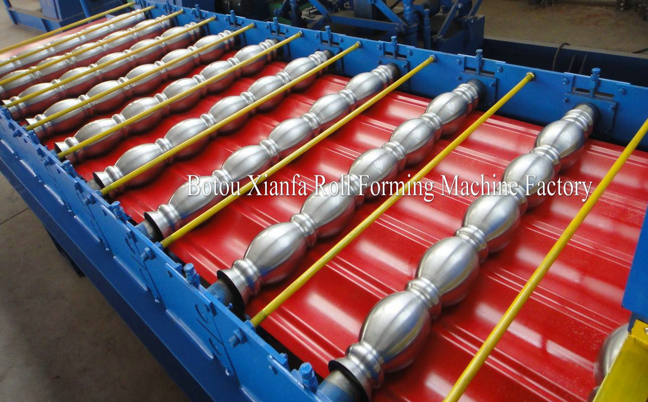 rolling machines ffor glazed and water wave sheet