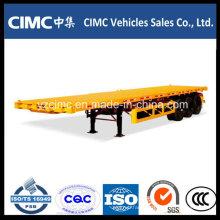 Cimc 3 Axle 40ft Flatbed Semi Trailer / Flat Bed