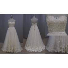 Strapless Applique Lace vestido de noiva 2016 novo estilo