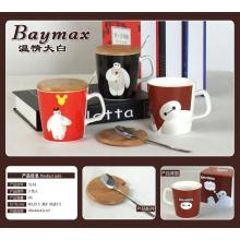 Big Hero Baymax Coffee Cup with Wood Lid