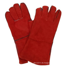 Red Cow Split Leder Schweißen Handschuhe Safety Work Handschuh