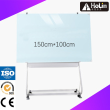 Mobile Magnetic Glass White Board with Steel Frame