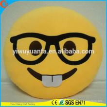 Nuevo diseño de la novedad de la moda Funny Emoji emoticon expresión facial almohada de peluche