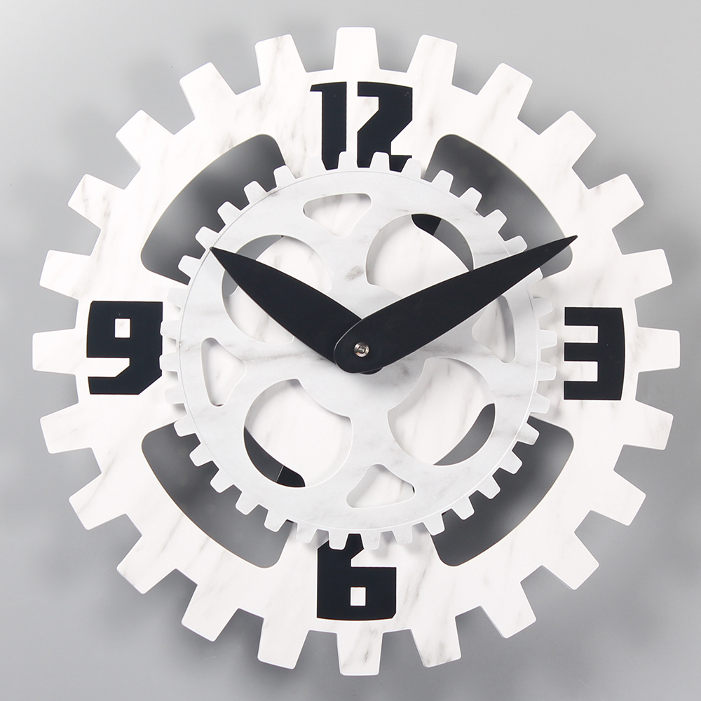 black silent wall clocks