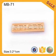 MB71Metal estampage Logo plaque Métal Custom Design Logo Badge Brand Name Badge