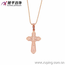 Nuevo colgante antiguo de la cruz del oro de Rose de Xuping