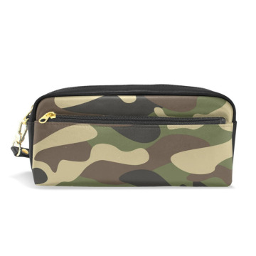 PU Militer Kamuflase Pen Pencil Case Bag