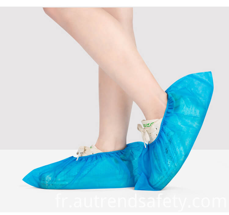 Wholesale Manufacturer Waterproof Foot Shoe Covers Disposable Non Woven Fabric Non Slip Boot Covers 4