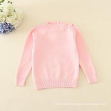 водолазка с воротником-розовая простая свитера вязаная одежда аппликация крошечный цветок полный рукавом зима теплая одежда