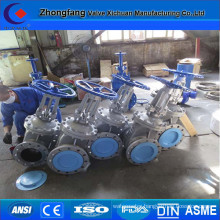 Oil field manual operated big size gate valve