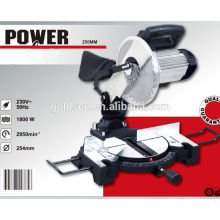 Low Noise 255mm 1800w Induction Motor Wood/Aluminum Cutting Miter Saw Machine Industrial Cut-Off Saw
