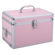 Professional Pink Beauty Aluminum Makeup Case