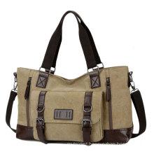 New men's casual travel bag Canvas single shoulder sports bag