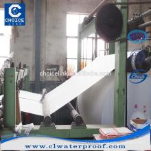 Polyester nonwoven felt for bitumen waterproofing