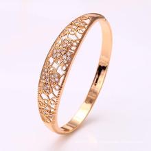 50914 moda elegante 18 k banhado a ouro cz liga de imitação de jóias de cobre pulseira para as mulheres