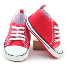 Красная дешевая детская спортивная обувь Детская парусиновая обувь