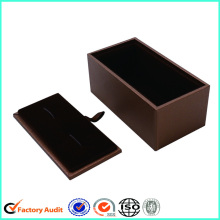 Lid and Bottom Texture Paper Cufflink Box
