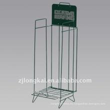 Estante derecho barato del estante del cómic del piso verde barato del metal de la manera