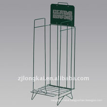 Hot selling fashion cheap green metal floor standing comic book display rack