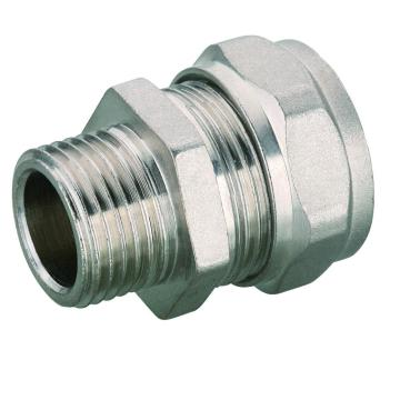 Kuningan Lurus Male Coupler PEX Pipe Compression Fitting