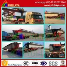180-250 toneladas vehículo rodado de la viga / viga de remolque carro de carretilla