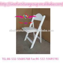 Location de fêtes chaise pliante extérieure de mariage blanc