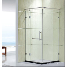 Preço competitivo vidro temperado simples chuveiro com dobradiça (K32)