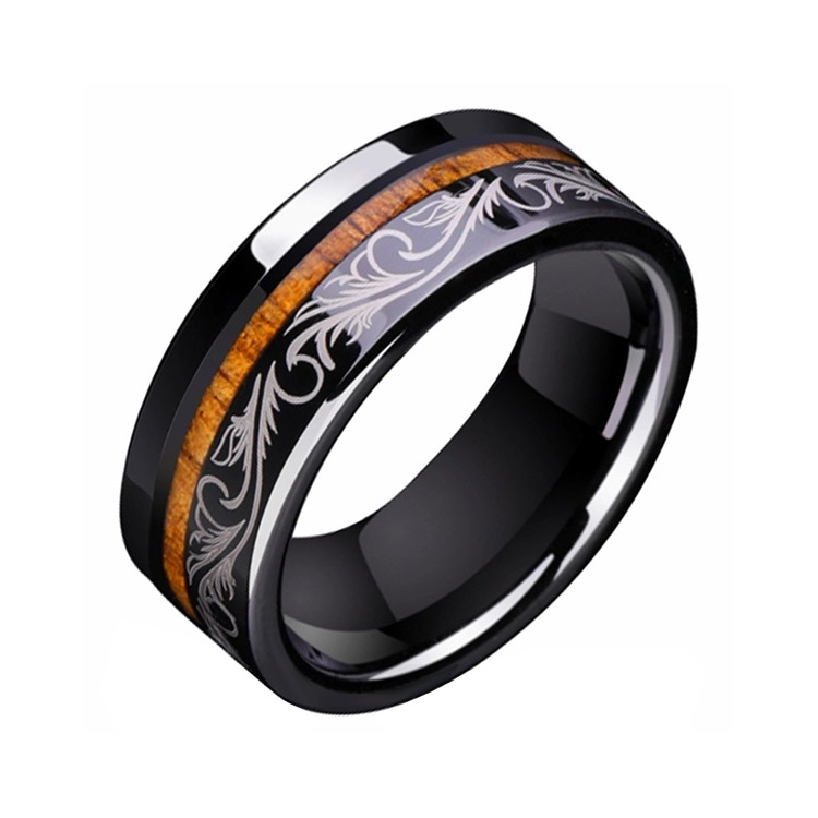 Black Tungsten Engagement Rings For Her